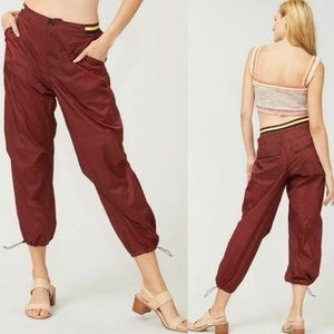 NWT Free People Ripple Sport Pants Mahogany Sz XS